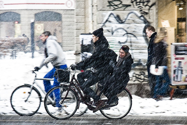 Double Winter - Cycling in Winter in Copenhagen