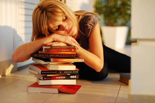 Sleeping over my books by judacoregio