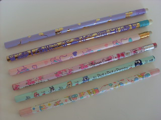 Vintage Sanrio pencils from 90's