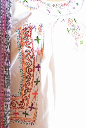Mexican fine embroidered blouse