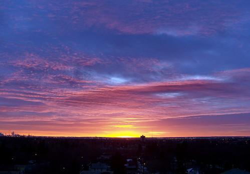 morning pink blue red canada color colour yellow sunrise dawn edmonton purple magenta ab alberta strathcona 2010 canadagood thisdecade