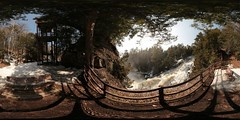 Spherical panorama of the Falls of St. Ursula / Spherical At St. Ursula Falls