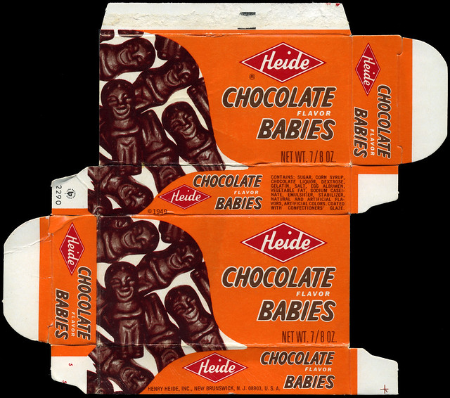 Baby Logo Collection: Heide - Chocolate Babies - Candy Box - 1970's