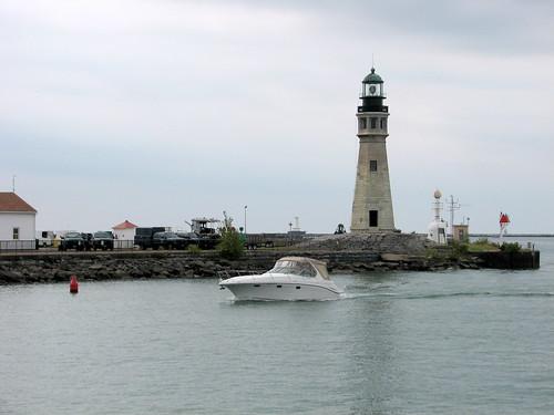 Lighthouse at Erie Canal Harbor Buffalo NY 1677