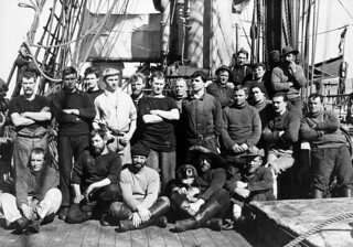 Group of crew of Terra Nova, Antarctica, 1912 or 1913