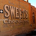 Sweets chocolate sign in Alley Panguitch