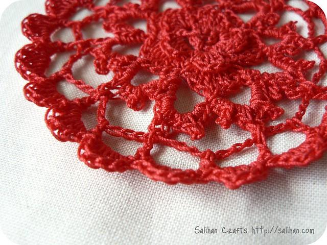 Free Crochet Rose Petal Pattern : Crochet Rose Petals Blogged at Salihan Crafts Crochet ...
