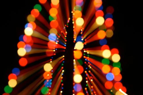 Crazy Christmas Tree Bokeh