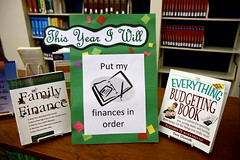 library display of personal finance books