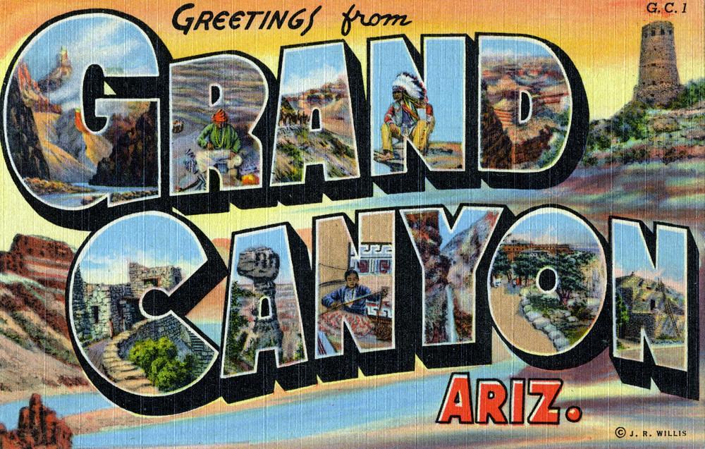 Greetings from grand canyon arizona large letter postcard a greetings from grand canyon arizona large letter postcard m4hsunfo
