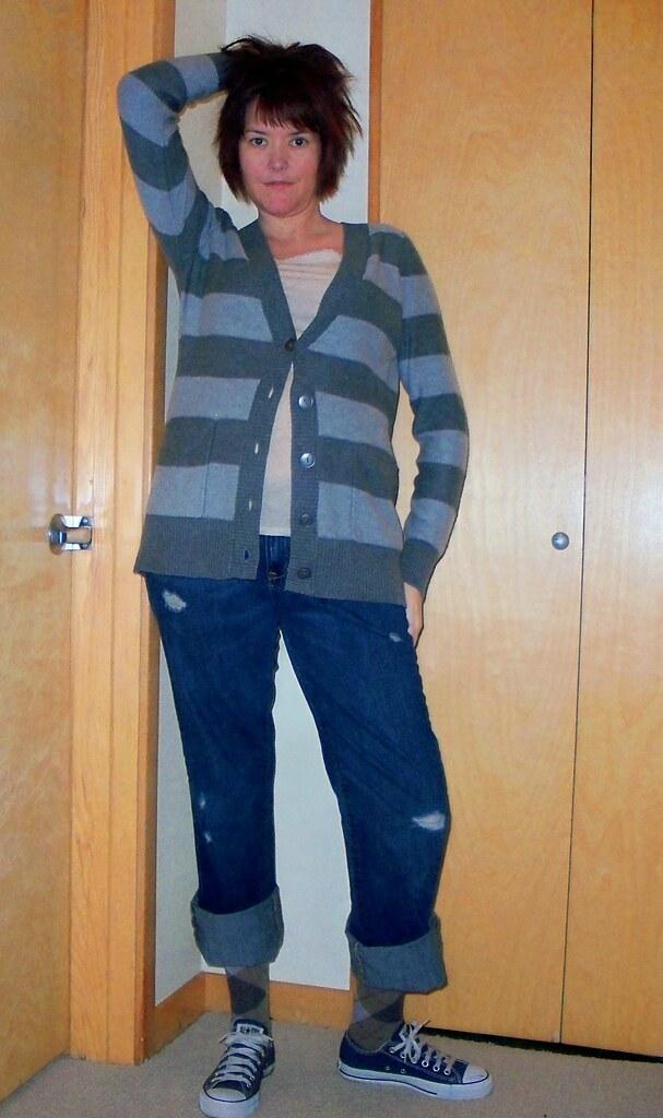 12: Boyfriend Sweater, Jeans and Blue Chucks | Striped Boyf