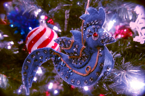 1970 Mrs. Kelly's Handmade Blue Bird Ornament