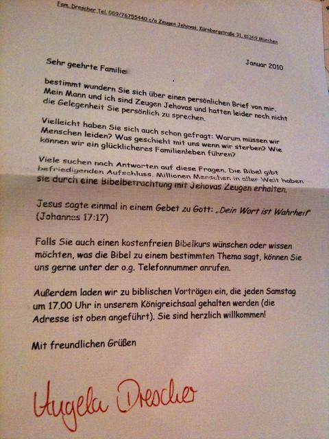 Briefe Von Zeugen Jehovas Nach Russland : Brief der zeugen jehovas flickr photo sharing