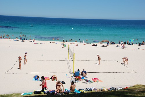 Beach volley, Cottesloe beach, Perth.