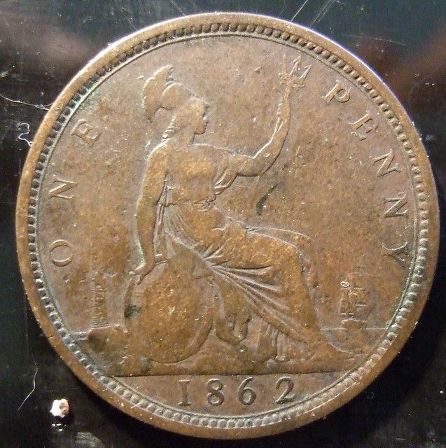 1 Point Safety >> GREAT BRITAIN, VICTORIA 1862 ---PENNY a   Flickr - Photo Sharing!