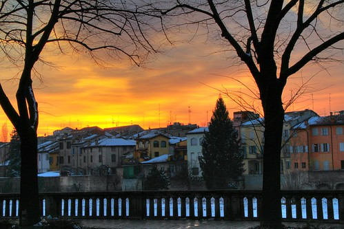 Sunset in Parma