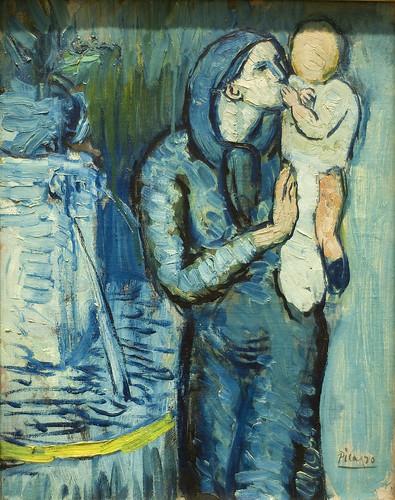 Mother and Child by a Fountain, 1901
