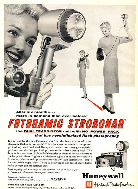 Ad : for Honeywell Futuramic Strobonar.Nov.1958