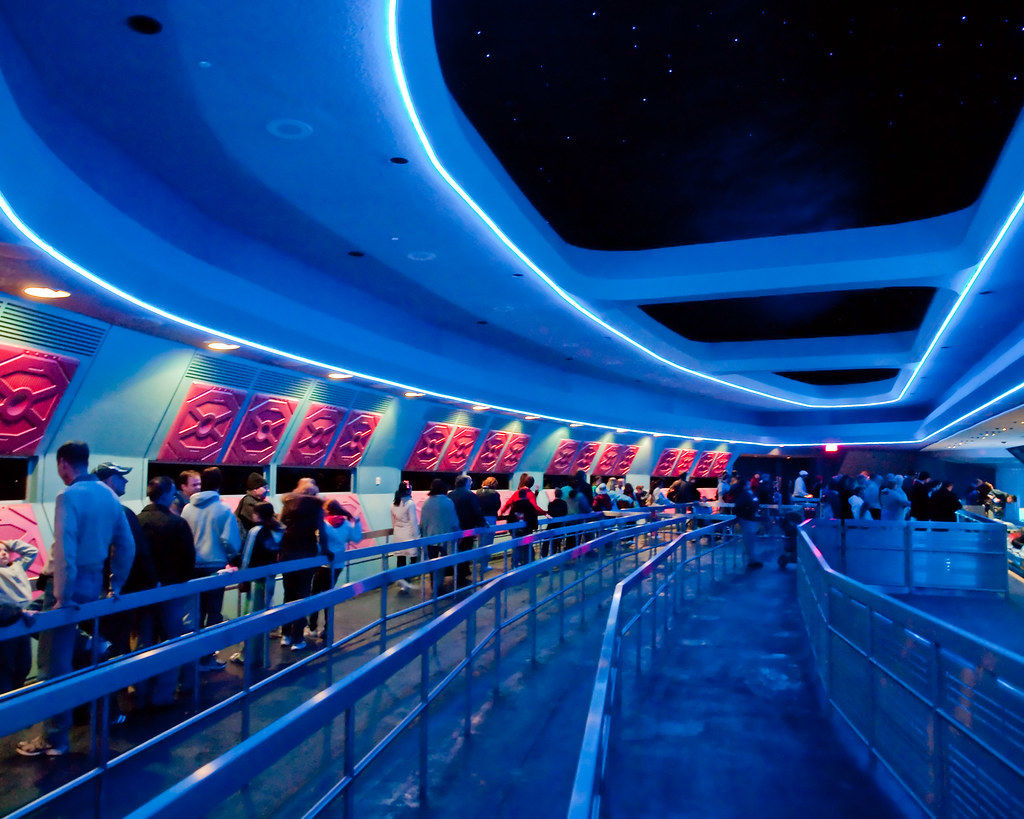 Queuing for Space Mountain by Peter Lee, on Flickr