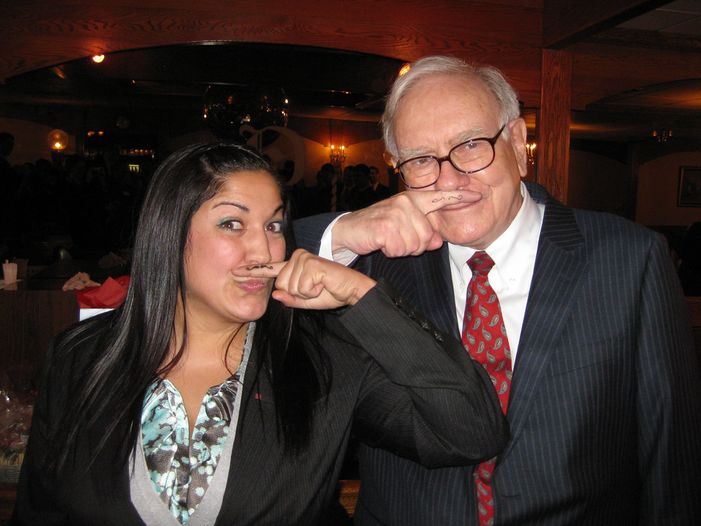 Warren Buffett with Fisher College of Business Student