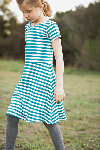 stripey skater dress