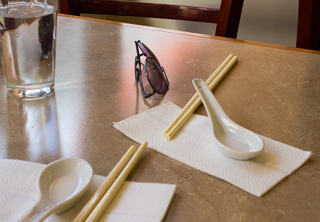 sunglasses on the table