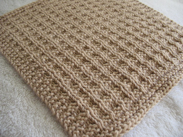 Waffle Knitting Pattern Dishcloth : Waffle Dishcloth Flickr - Photo Sharing!
