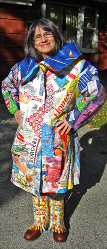 """21st Century Fusion"" fused plastic bags coat ~ photo 20"