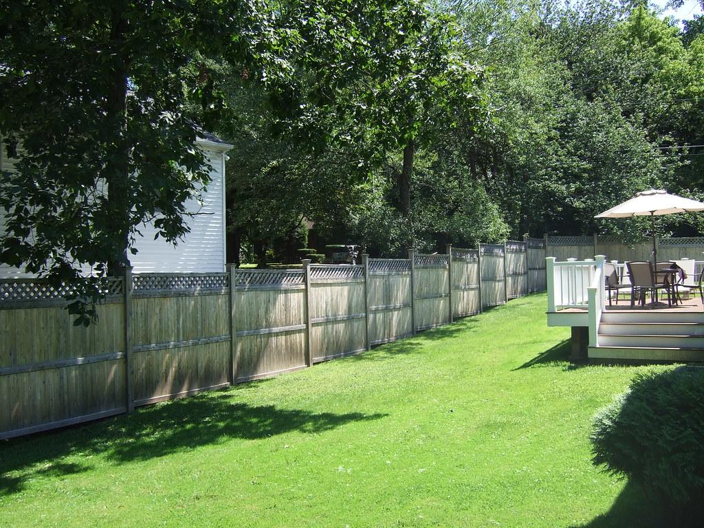Backyard landscaping estimates : Estimates for new w cedar privacy fencing backyard