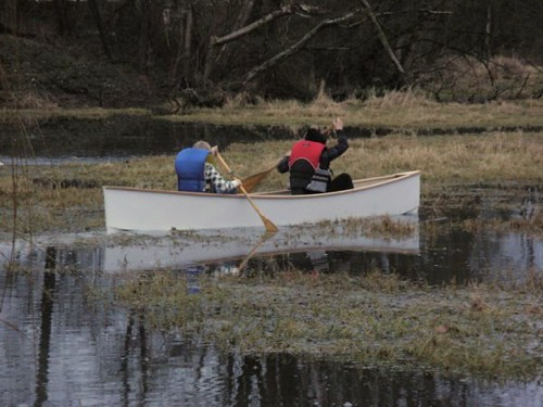 Quick canoe plan woodworker builds in 4 5 hours i took 2 for Local pond stores