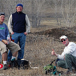 (from left) Randy Lahm, Evan Price, Joe Klosky and Danny Pring at the 2005 Ice Bowl, West Arvada Course.