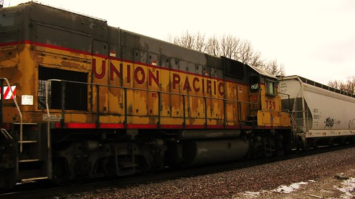 Northbound Union Pacific local freight train. Glenview Illinois. January 2010. by Eddie from Chicago