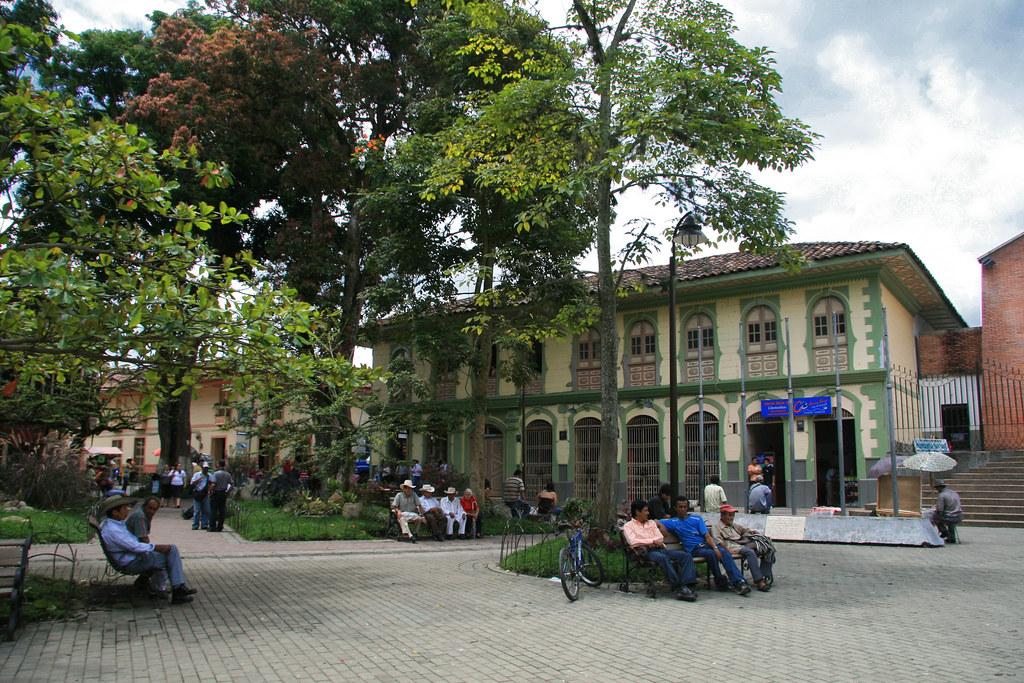 Imagen de la plaza principal de Montenegro, Quindio