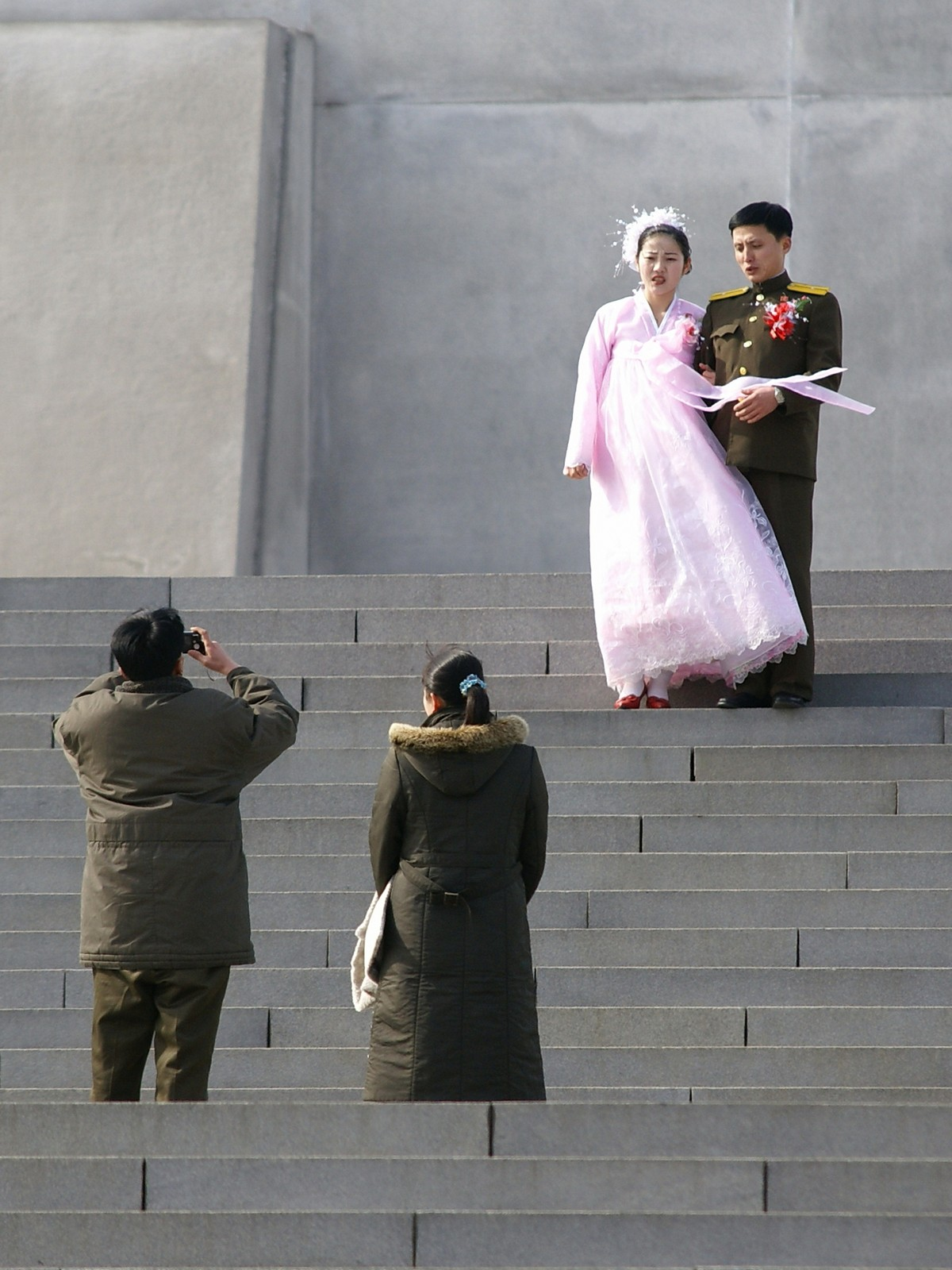 Taking wedding photos