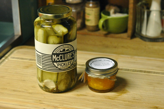 pickles and jam from Cathy