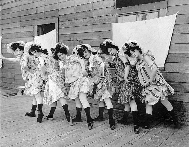 "Women dancers from Kiralfy's Carnival of Venice, ""The Trail,"" Lewis and Clark Exposition, Portland, Oregon"