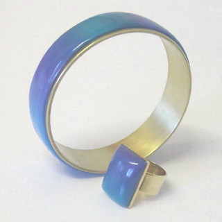 Summer Ocean Bangle and Ring