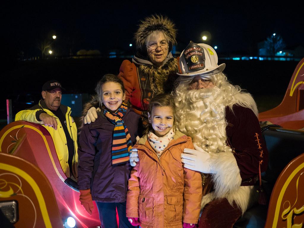 Neighborhood Santa visit