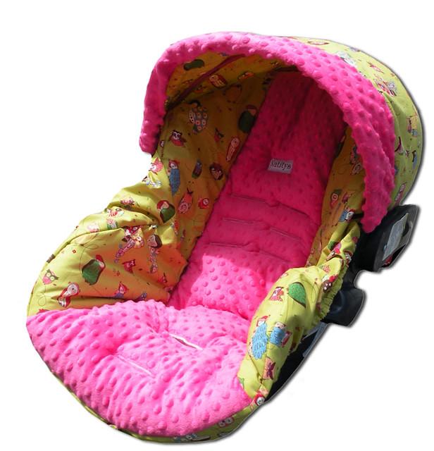 spotted owls infant car seat cover explore eloisad 39 s photo flickr photo sharing. Black Bedroom Furniture Sets. Home Design Ideas