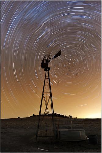 longexposure windmill night rural stars colorado coloradosprings rockymountains startrails