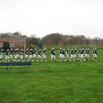 Trinity College Football Team Enroute to Jesse/Miller Field
