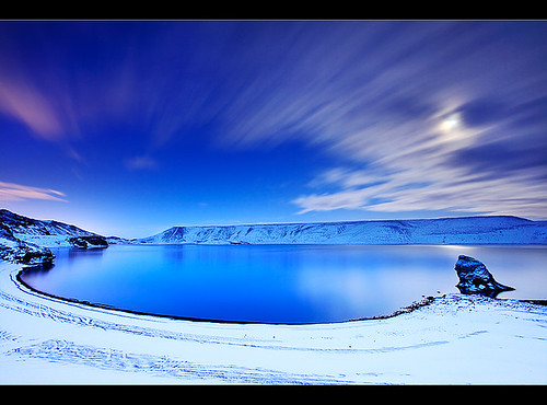 Blue hour at Lake Kleifarvatn