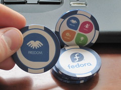 fedora poker chips