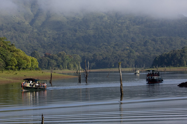 Boating at Thekkady