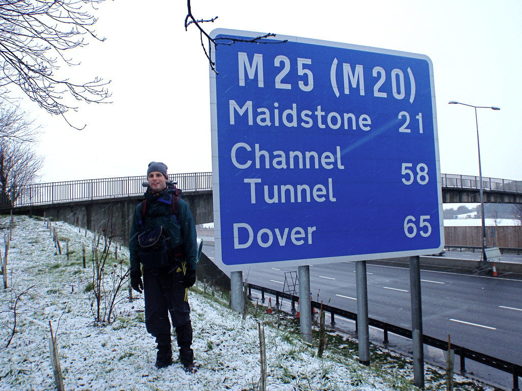 Walking a lap of the M25
