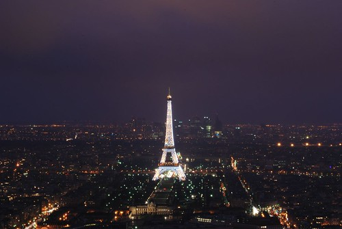 paris france tower night landscape tour eiffel montaprnasse
