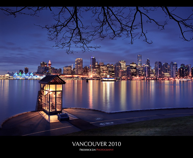 Olympic City over Burrard Inlet