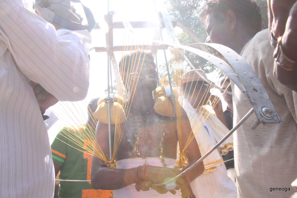 Blessing the Kavadi carrier