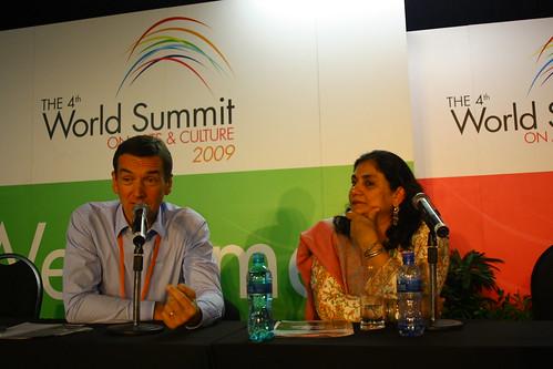 Dr Stojan Pelko (Slovenia) and Madeeha Gauhar (Pakistan)