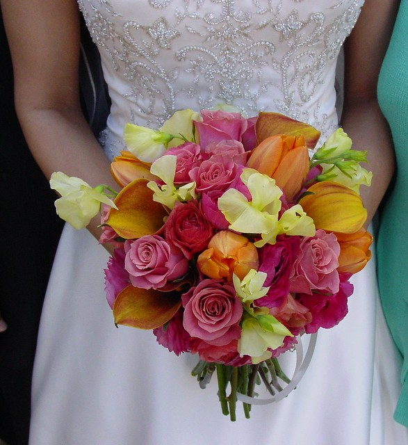 Wedding Bouquets Pink And Orange : Pink and orange bridal bouquet flickr photo sharing